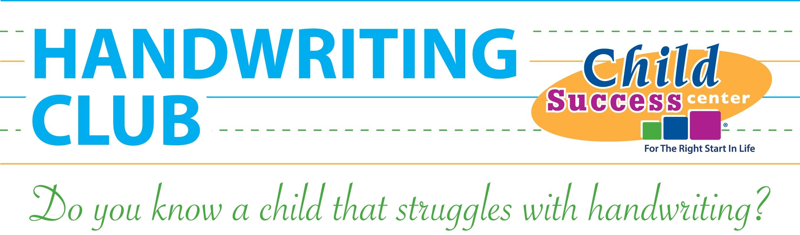 Child Success Center Handwriting Club