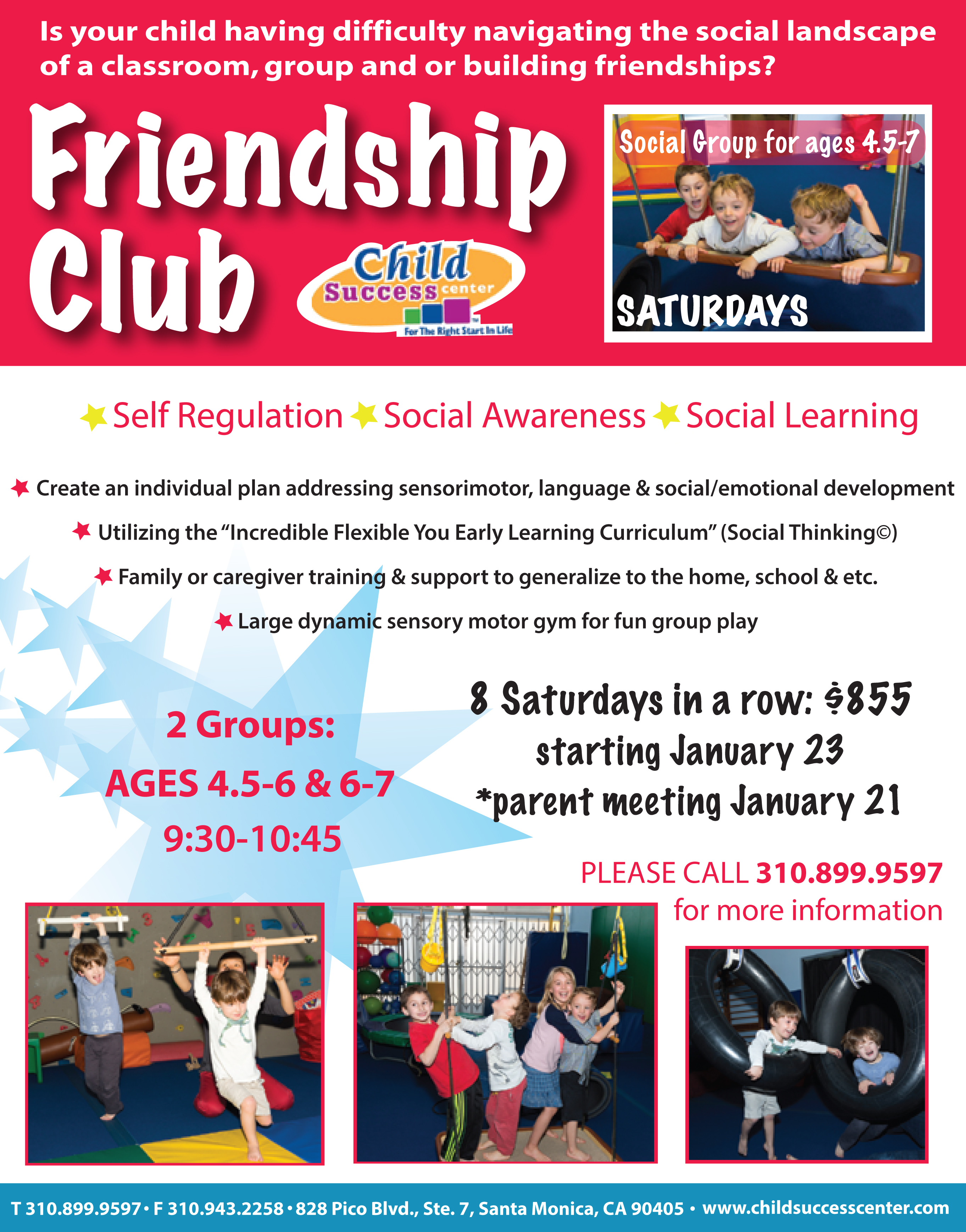 Child Success Center Friendship Club - Winter 2016 Session
