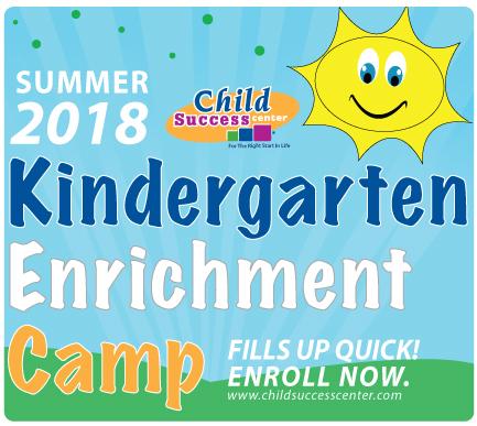 Kindergarten Enrichment Camp 2018 Summer