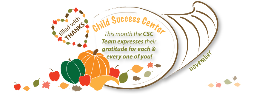 Thanksgiving Greeting from Child Success Center