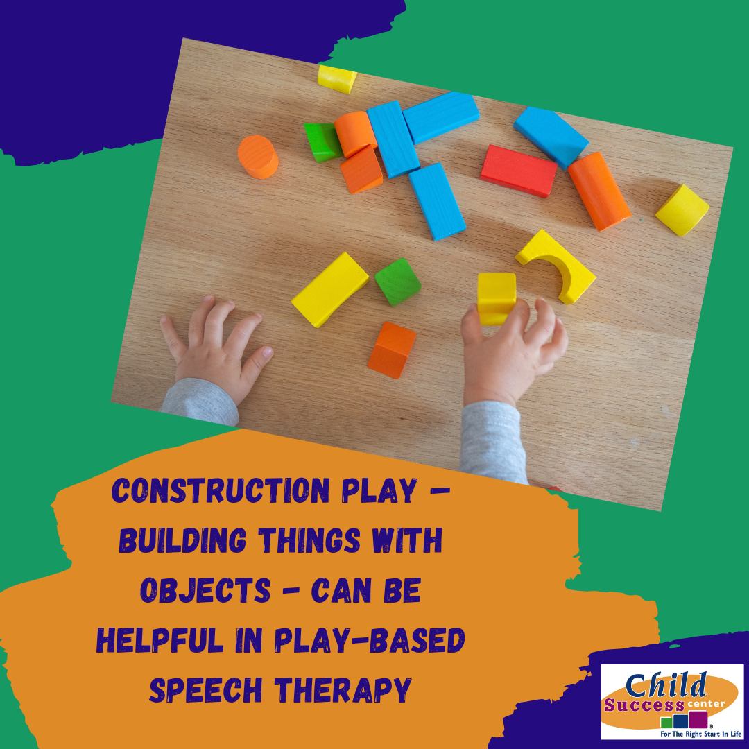 speech therapy process and play