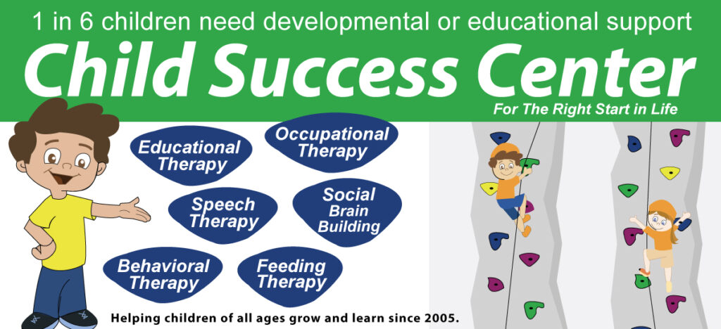 Pediatric occupational therapy and speech therapy